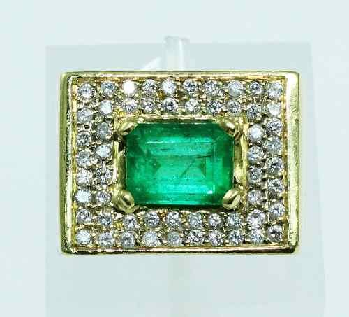 Anel De Ouro 18k750 Diamantes Esmeralda 1891
