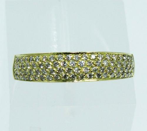 Anel De Ouro 18k750 Diamantes 1883