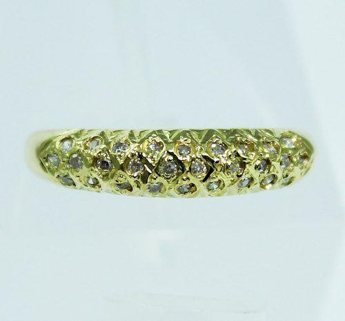 Anel De Ouro 18k750 Diamantes 1881