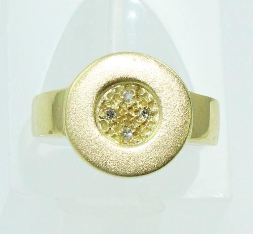 Anel De Ouro 18k750 Diamantes 2190