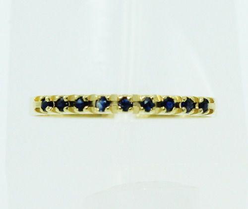 Anel De Ouro 18k750 Safira Azul 2258