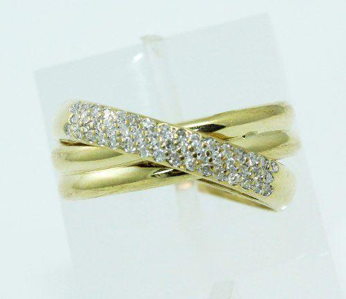 Anel De Ouro 18k750 Diamantes 2266