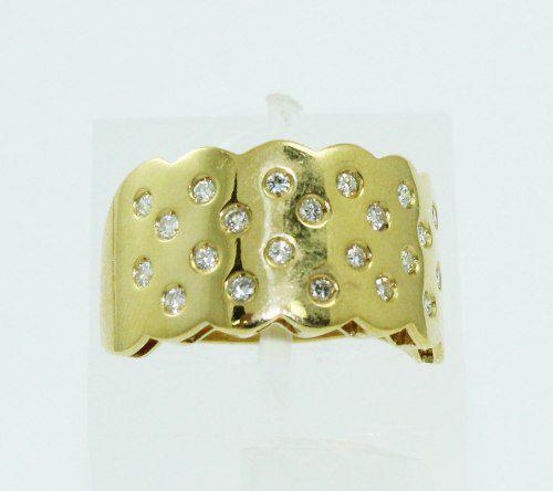 Anel De Ouro 18k750 Diamantes 2267
