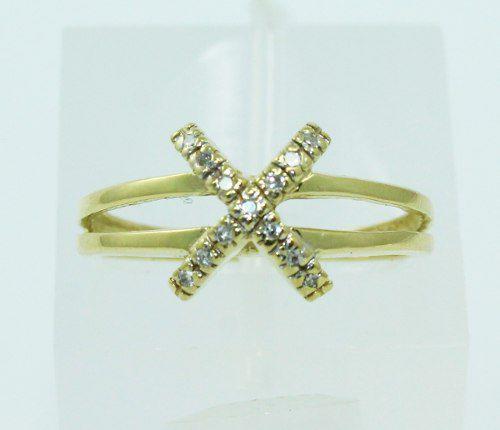 Anel De Ouro 18k750 Diamantes 2263