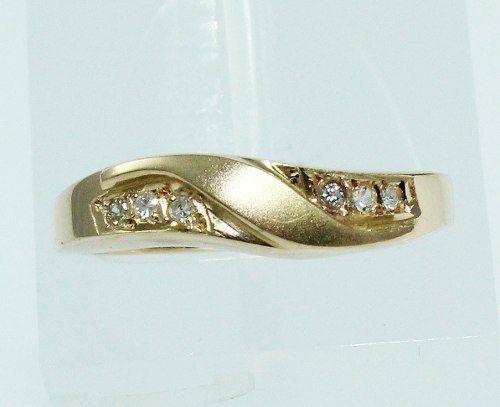 Anel De Ouro 18k750 Diamantes 1872