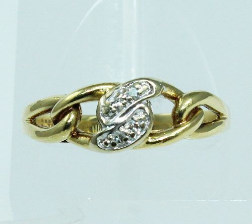 Anel De Ouro 18k750 Diamantes Hstern 1871