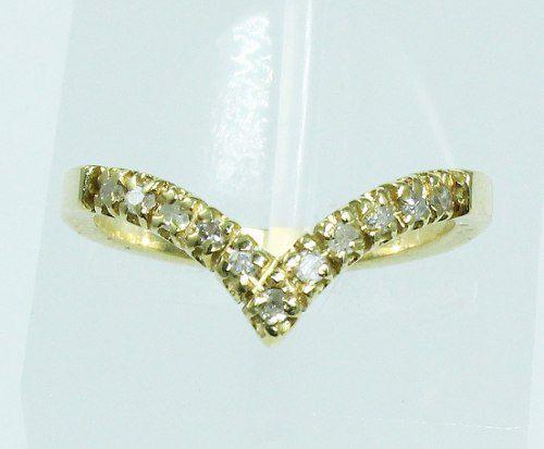 Anel De Ouro 18k750 Diamantes 1868