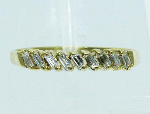 Anel De Ouro 18k750 Diamantes 1861