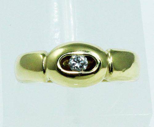 Anel De Ouro 18k750 Diamante 1848