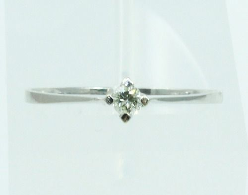 Anel De Ouro Branco 18k750 Diamante 1842