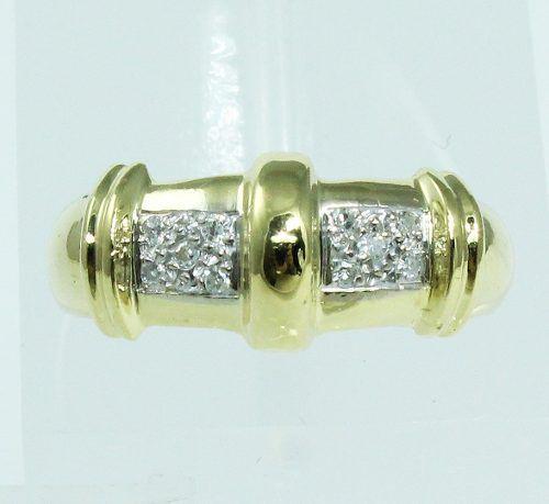 Anel De Ouro 18k750 Diamantes 1837