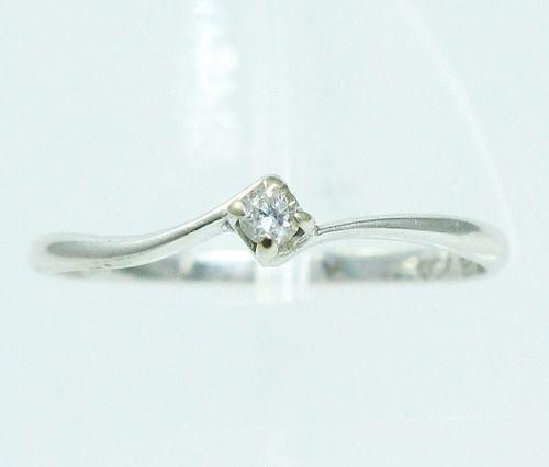 Anel De Ouro Branco 18k750 Diamante 1828