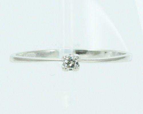 Anel De Ouro Branco 18k750 Diamante 1825
