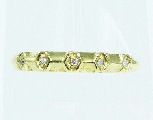Anel De Ouro 18k750 Diamantes 1819