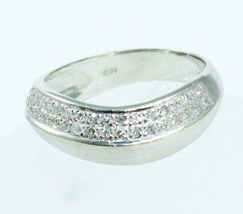 Anel De Ouro Branco 18k750 Diamantes 1805