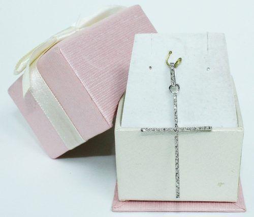 Pingente De Ouro 18k750 Cruz Diamantes P592