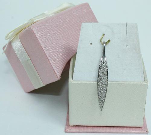 Pingente Ouro Branco 18k750 Diamantes Vivara P590