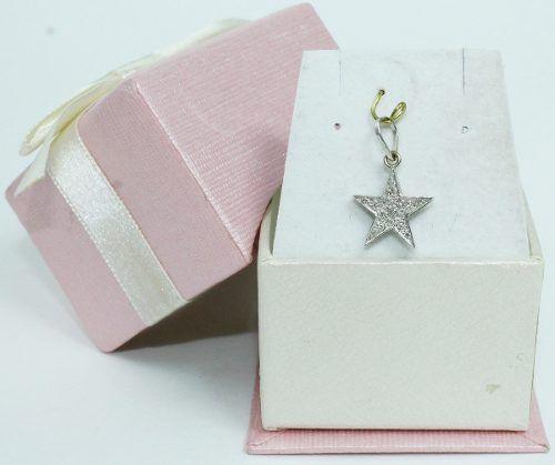 Pingente De Ouro Branco 18k750 Diamantes P588