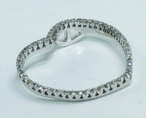 Pingente Ouro Branco 18k750 Diamante Coração P584