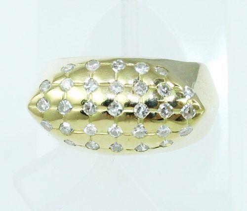 Anel De Ouro 18k750 Diamantes 2180