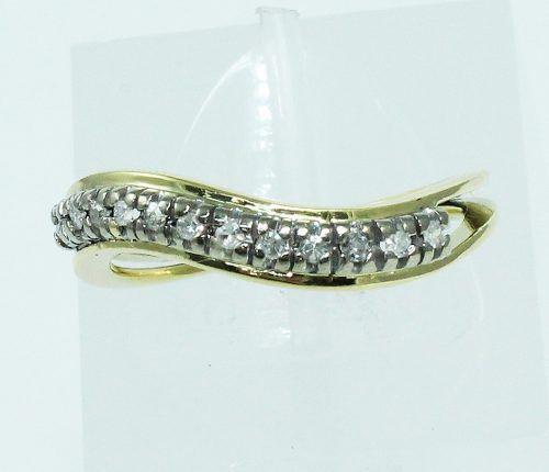Anel De Ouro 18k750 Diamantes 1782
