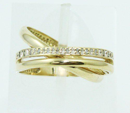 Anel De Ouro 18k750 Diamantes 2792