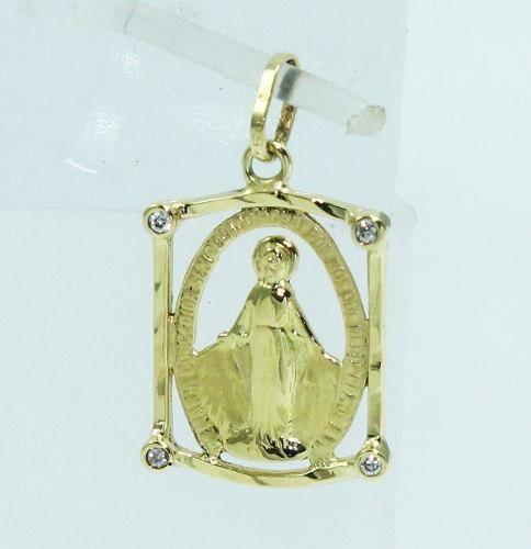 Pingente Ouro 18k750 Nossa Senhora Das Graças P546