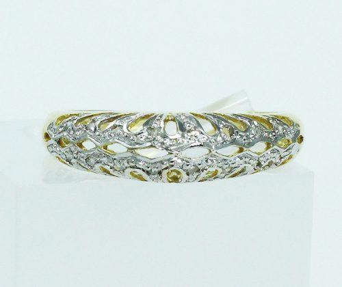 Anel De Ouro 18k750 Diamantes 1766