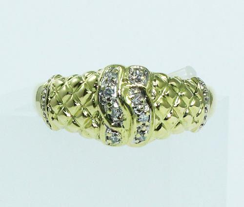 Anel De Ouro 18k750 Diamantes 1761