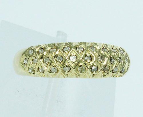 Anel De Ouro 18k750 Diamantes 1758