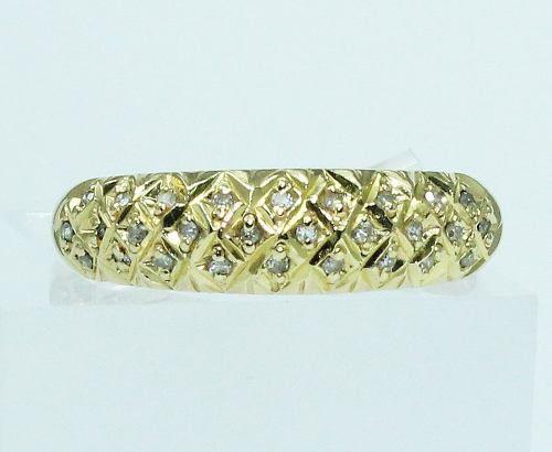 Anel De Ouro 18k750 Diamantes 1757