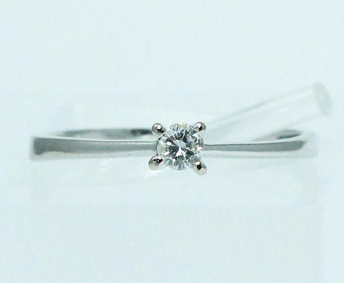 Anel De Ouro 18k750 Solitário Diamante 1755