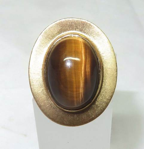 Anel Ouro 18k750 Olho De Tigre, Carla Amorim 1055