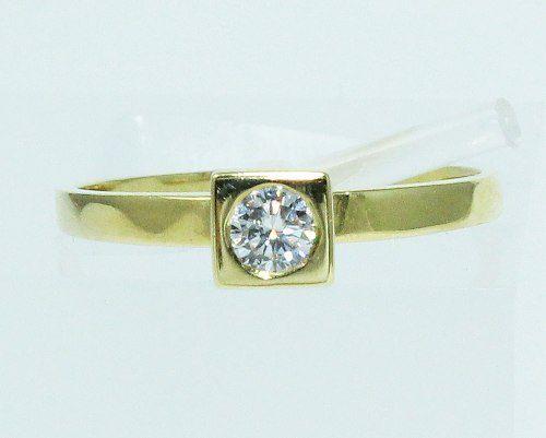 Anel De Ouro 18k750 Diamante 1753