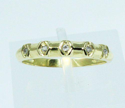 Anel De Ouro 18k750 Diamantes 1747