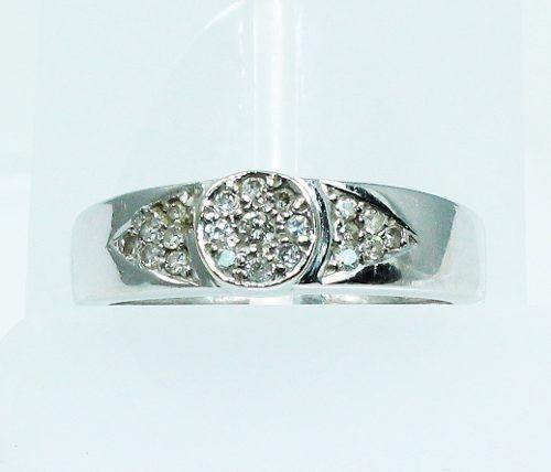 Anel De Ouro Branco 18k750 Diamantes 1733