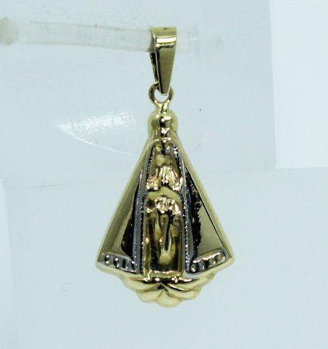 Pingente Ouro 18k750 Nossa Senhora Aparecida P532