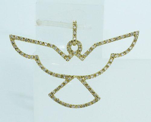 Pingente De Ouro 18k Espirito Santo Diamantes P529