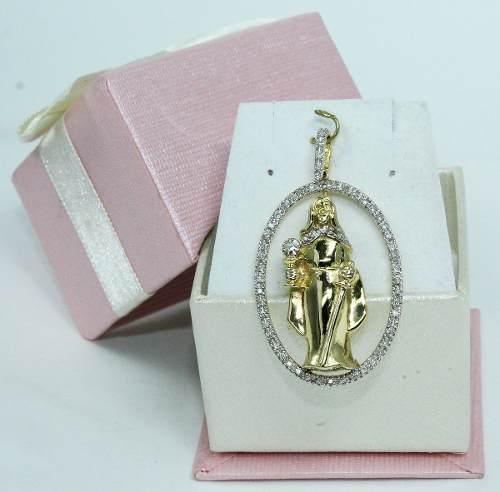 Pingente De Ouro 18k Diamantes Santa Barbara P528