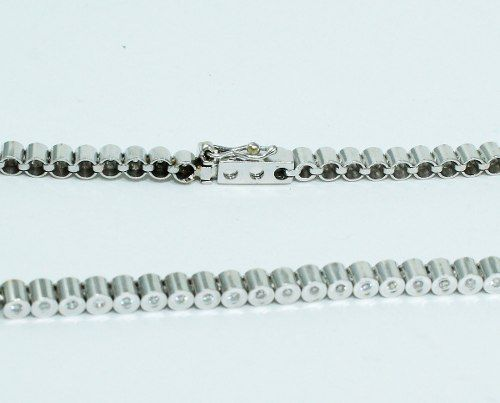 Pulseira Ouro Branco 18k750 Riviera Diamantes Pu63