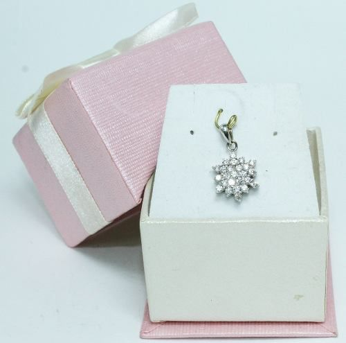 Pingente De Ouro Branco 18k750 Diamantes P520