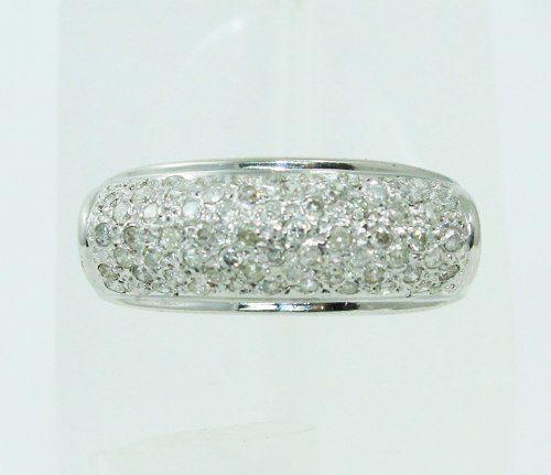 Anel De Ouro Branco 18k750 Diamantes 2277