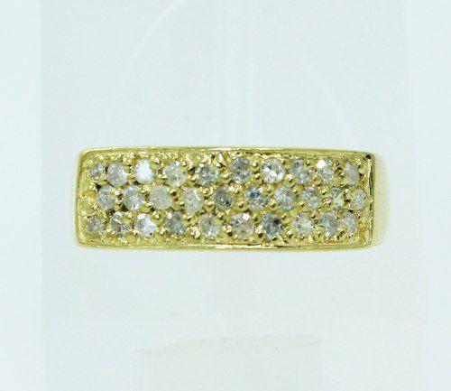 Anel De Ouro 18k750 Diamantes 2273