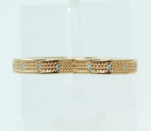 Anel De Ouro Rosê 18k750 Coração Diamantes 2272