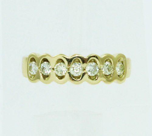 Anel De Ouro 18k750 Diamantes 2269