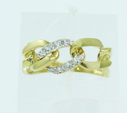 Anel De Ouro 18k750 Diamantes 2268