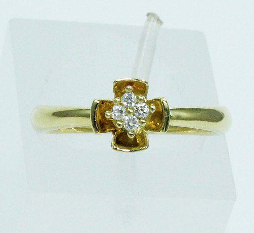 Anel De Ouro 18k750 Diamantes 1722