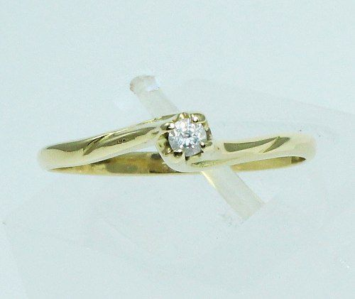 Anel De Ouro 18k750 Solitário Diamante 1717