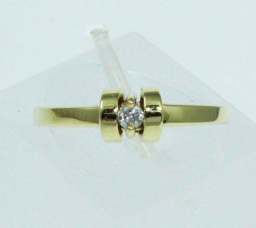 Anel De Ouro 18k750 Diamante 1700