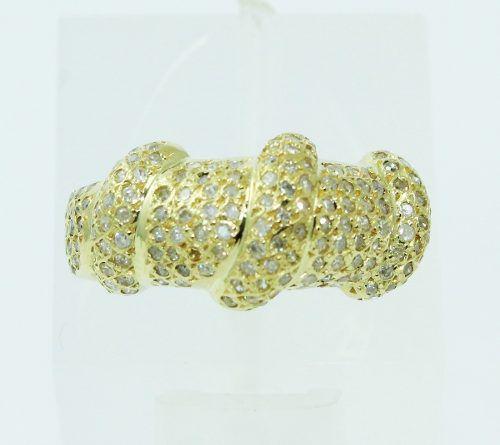 Anel De Ouro 18k750 Diamantes 2285